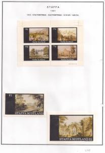 SCOTLAND - STAFFA - 1981 - Old Paintings #2  - Perf 4v, Souv, D/L Sheets - MLH
