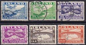 Iceland #C15-20   F-VF Used CV $88.50  (Z8008)