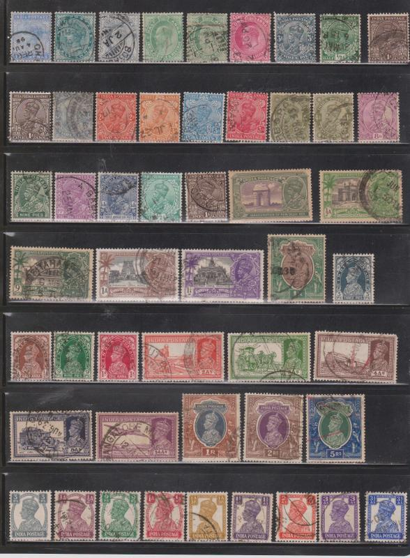 INDIA - Collection Of Older Used Issues To 1957 - Good CV Of $40.00