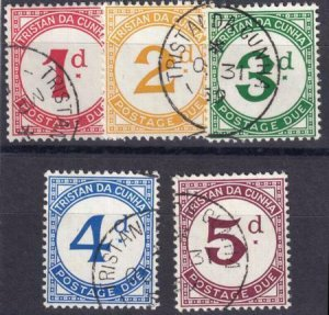 Turks and Caicos 1957 SC J1-J5 Used Set