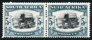 South Africa SG64b 1934 5/- black and blue-green M/Mint