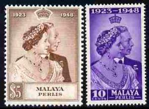 Malaya - Perlis 1948 KG6 Royal Silver Wedding perf set of...