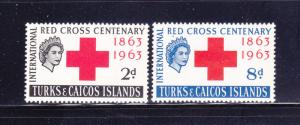 Turks and Caicos Islands 139-140 Set MH Red Cross (A)