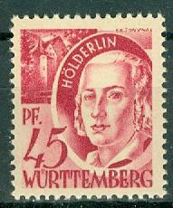 Germany - French Occupation - Wurttemberg - Scott 8N9 (SP)