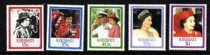 D3-Kiribati-Sc#470-4-unused NH set-QEII-Royalty-60th Birthda