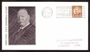 US 685 4c Taft on Roessler First Day Cover