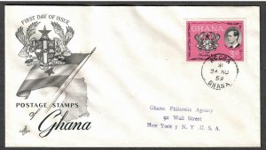 Ghana # 66 , Visit of Prince Philip FDC - I Combine S/H