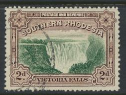Southern Rhodesia  SG 35  SC# 37b   Used perf 12½   Victoria Falls see details