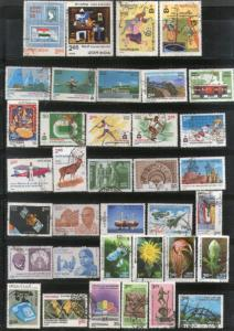 India 1982 Used Year Pack of 36 Stamps Painting Railway Wildlife Games Flower...