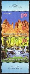 Bosnia / Serbian Post 2012 Natural Reserve Landscapes Pair MNH