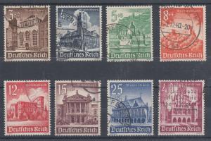 Germany Sc B177/B185 used 1940 Buildings, postally used, no B180 o/w cplt