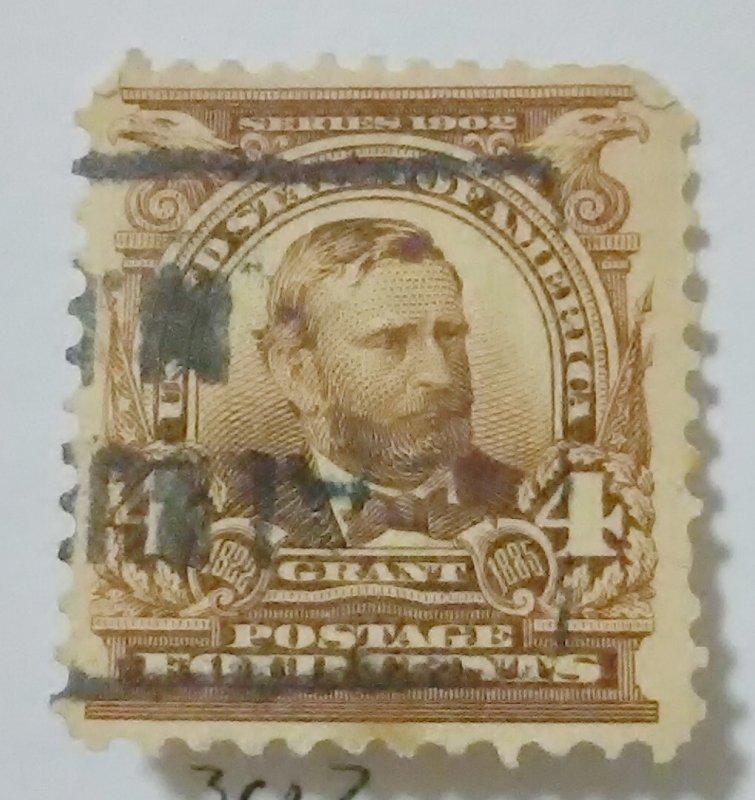 United States Scotts Cat. # 3034c President Grant fine mis perf upper corners