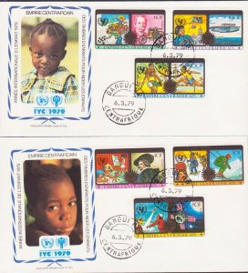 CENTRAL AFRICA YEAR OF CHILD 1979 3 FDC's 17433
