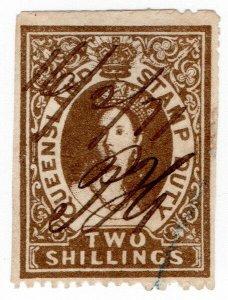 (I.B) Australia - Queensland Revenue : Stamp Duty 2/- (1869)