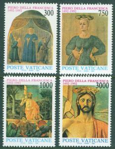 VATICAN Scott 904-7 MNH** 1992 Religious Frescoes CV $7.15