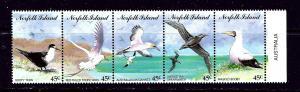 Norfolk Is 565 MNH 1994 Seabirds strip of 5