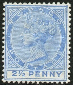 TOBAGO-1882-84 2½d Bright Blue Sg 16a MOUNTED MINT V48454
