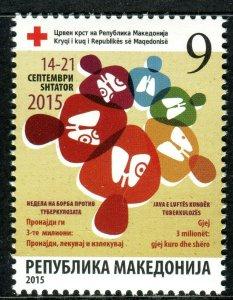 203 - MACEDONIA 2015 - Red Cross - Tuberculosis - MNH Set