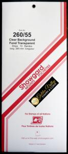 Showgard Stamp Mount 260 / 55 CLEAR Background Pack of 10