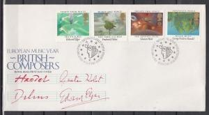 Great Britain, Scott cat. 1103-1106. British Composers issue. First Day Cover.