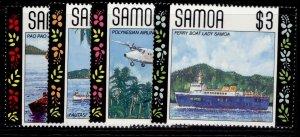 SAMOA QEII SG840-843, 1990 local transport set, NH MINT.