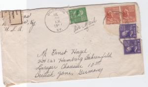 united states 1949 multi stamps & geoffnet censor stamps cover ref r14791