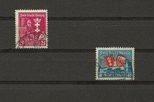 Danzig Mi 274x (vertical watermark)-275x used (417426) (Mi CV= $57euros)