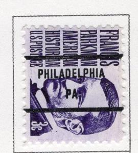 U. S. Precancel Philadelphia, PA # 1281-81 USED HINGED