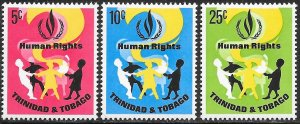 Trinidad & Tobago 136-138 MNH -  Human Rights Year