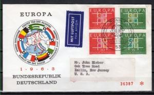 Germany, Scott cat. 867-868. Europa issue on a First Day Cover. *