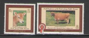 Jersey Sc 206-7 1979 Cattle stamps  mint NH