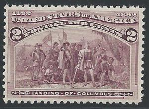 Scott #231, Columbian Exposition Issue, Never Hinged