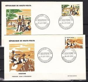 Burkina Faso, Sc. cat. 168-169. Honoring Scouts issue on a First day cover.