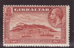 1931 Gibraltar 1½d Perf 13½ x 14 Mint