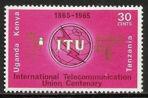 Kenya, Uganda & Tanzania 1965 Scott# 152 MH (gum disturbance)