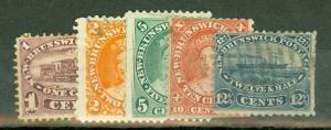 Canada New Brunswick 6 mint, 7-10 used small faults CV $203.50