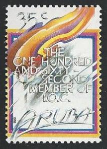 Aruba #38 35c 162nd Member of IOC 1988 mnh