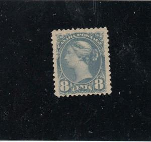 CANADA # 44a MNH 8cts BLUE GREY SMALL QUEEN CAT VALUE $1650
