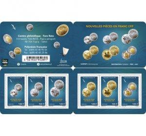 2021 French Polynesia New Coins Bklt 6 (Scott NA) MNH