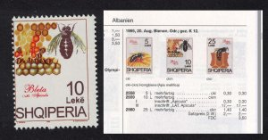 Albania Bees Apiculture 10 Leke ERROR 1995 MNH SG#2600var MI#2559II