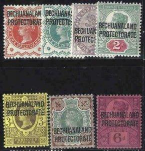 Bechuanaland Protectorate 1897 SC 69-74 MLH Set