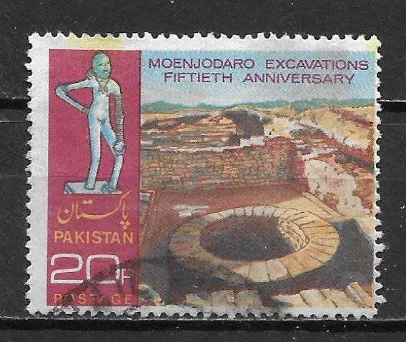 Pakistan, 337, Mohenjo-Daro Excavation Single,**Used** (z4)
