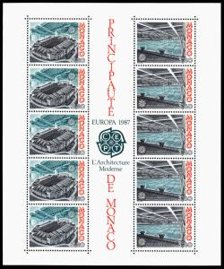 Monaco Scott 1564a (1987) Mint NH VF B