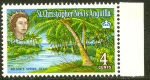 ST. KITTS NEVIS 1963 QE2 4c NELSON'S SPRING Scott No. 149 MNH
