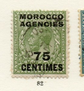 Morocco Agencies 1920s-30s Early Issue Fine Used 75c. Optd Surcharged NW-169081