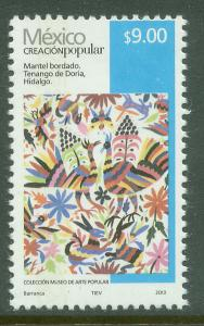MEXICO 2501d, $9.00P HANDCRAFTS 2013 ISSUE. MINT, NH. F-VF.