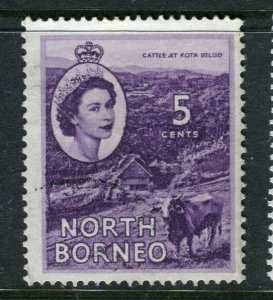 NORTH BORNEO; 1955 early QEII issue fine Mint hinged value, 5c