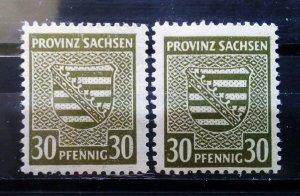 Germany Provinz Sachsen Mi 83 a+b **