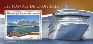 TOGO- 2019 - Cruise Ships - Perf Souv Sheet  - M N H