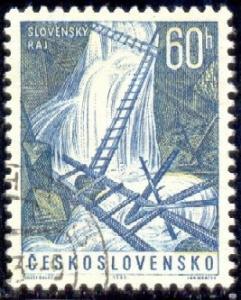 Great Hawk Gorge, Czechoslovakia stamp SC#1191 used